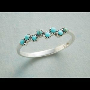 Jewelry - Women's Turquoise Bubbles 925 Mermaid Kisses Ring